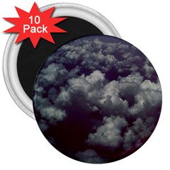 Through The Evening Clouds 3  Button Magnet (10 Pack)
