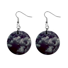 Through The Evening Clouds Mini Button Earrings