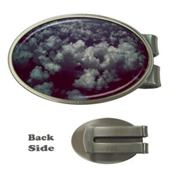 Through The Evening Clouds Money Clip (oval)