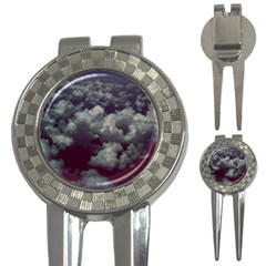 Through The Evening Clouds Golf Pitchfork & Ball Marker
