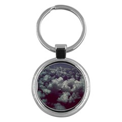 Through The Evening Clouds Key Chain (round)