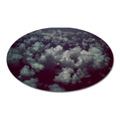 Through The Evening Clouds Magnet (oval)