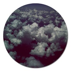Through The Evening Clouds Magnet 5  (round)