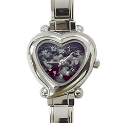 Through The Evening Clouds Heart Italian Charm Watch
