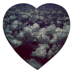 Through The Evening Clouds Jigsaw Puzzle (Heart)