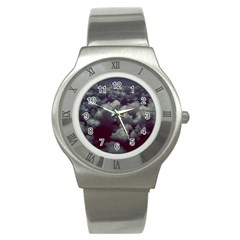 Through The Evening Clouds Stainless Steel Watch (Slim)