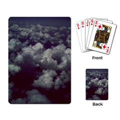 Through The Evening Clouds Playing Cards Single Design