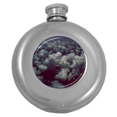 Through The Evening Clouds Hip Flask (Round)