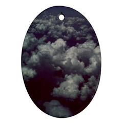 Through The Evening Clouds Oval Ornament (Two Sides)
