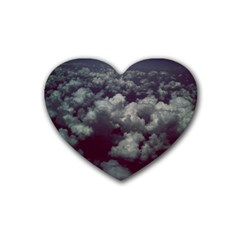 Through The Evening Clouds Drink Coasters 4 Pack (heart)