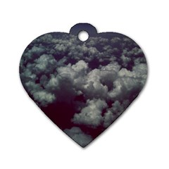 Through The Evening Clouds Dog Tag Heart (Two Sided)