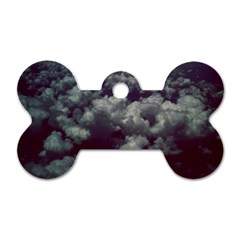 Through The Evening Clouds Dog Tag Bone (Two Sided)