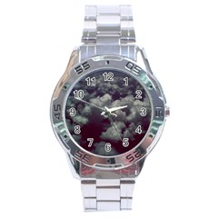 Through The Evening Clouds Stainless Steel Watch