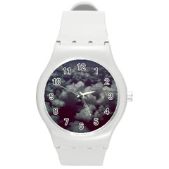 Through The Evening Clouds Plastic Sport Watch (medium)