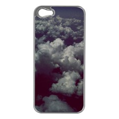 Through The Evening Clouds Apple iPhone 5 Case (Silver)