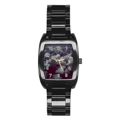 Through The Evening Clouds Stainless Steel Barrel Watch