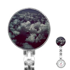 Through The Evening Clouds Stainless Steel Nurses Watch