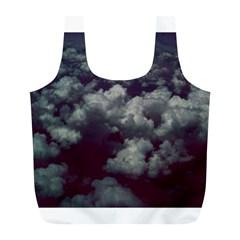 Through The Evening Clouds Reusable Bag (l)