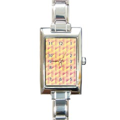 Geometric Pink & Yellow  Rectangular Italian Charm Watch