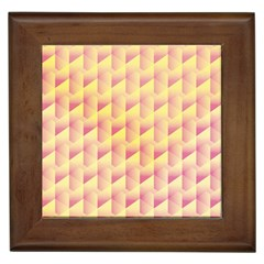 Geometric Pink & Yellow  Framed Ceramic Tile