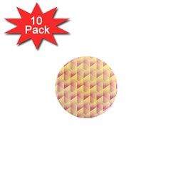 Geometric Pink & Yellow  1  Mini Button Magnet (10 pack)