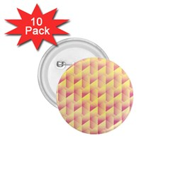 Geometric Pink & Yellow  1.75  Button (10 pack)