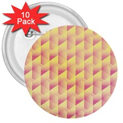 Geometric Pink & Yellow  3  Button (10 pack)