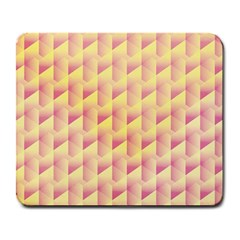 Geometric Pink & Yellow  Large Mouse Pad (rectangle)