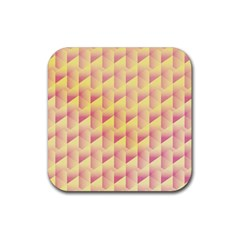 Geometric Pink & Yellow  Drink Coasters 4 Pack (square)