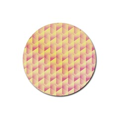 Geometric Pink & Yellow  Drink Coasters 4 Pack (round)