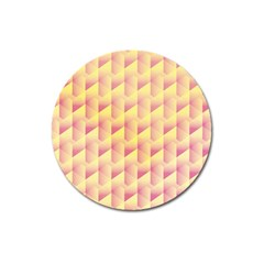 Geometric Pink & Yellow  Magnet 3  (Round)
