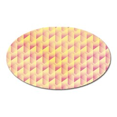 Geometric Pink & Yellow  Magnet (Oval)