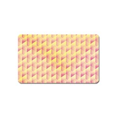 Geometric Pink & Yellow  Magnet (name Card)