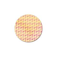 Geometric Pink & Yellow  Golf Ball Marker