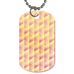 Geometric Pink & Yellow  Dog Tag (Two-sided)