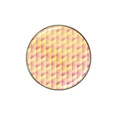Geometric Pink & Yellow  Golf Ball Marker (for Hat Clip)