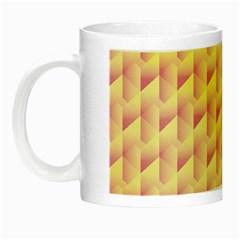 Geometric Pink & Yellow  Glow in the Dark Mug