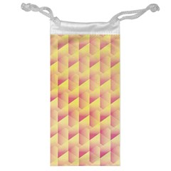 Geometric Pink & Yellow  Jewelry Bag
