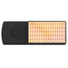 Geometric Pink & Yellow  4gb Usb Flash Drive (rectangle)