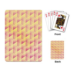 Geometric Pink & Yellow  Playing Cards Single Design