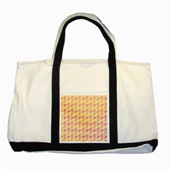 Geometric Pink & Yellow  Two Toned Tote Bag