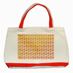 Geometric Pink & Yellow  Classic Tote Bag (red)