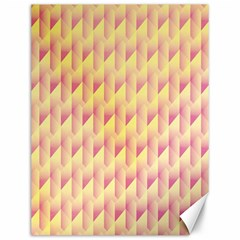 Geometric Pink & Yellow  Canvas 12  x 16  (Unframed)