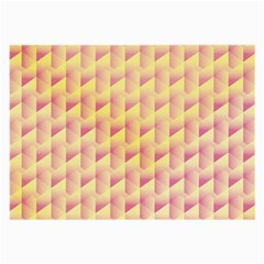Geometric Pink & Yellow  Glasses Cloth (Large, Two Sided)