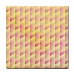 Geometric Pink & Yellow  Face Towel