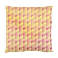 Geometric Pink & Yellow  Cushion Case (Two Sided)