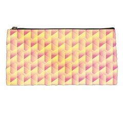 Geometric Pink & Yellow  Pencil Case