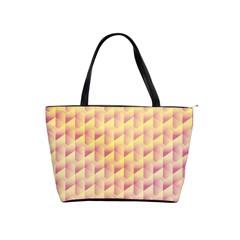 Geometric Pink & Yellow  Large Shoulder Bag