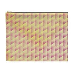 Geometric Pink & Yellow  Cosmetic Bag (xl)