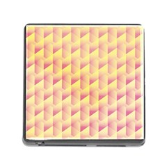 Geometric Pink & Yellow  Memory Card Reader with Storage (Square)